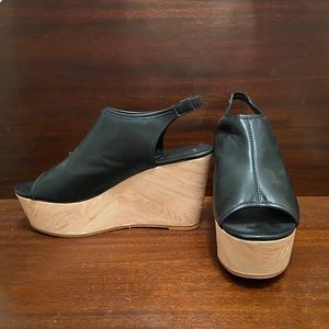 Forever 21 Faux Leather Wedges